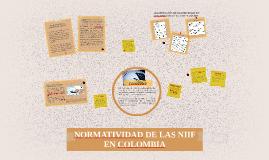 NORMATIVIDAD DE LAS NIIF EN COLOMBIA