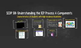 SEDP 501: Understanding the IEP Process and Components