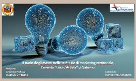 Il ruolo degli eventi nelle strategie di marketing territori