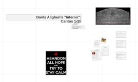 """Dante Aligheri's """"Inferno"""" Cantos 1-11"""