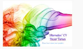 """Hazal Türken """"Alternatif"""" CV"""