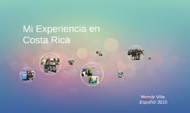 Mi Experiencia en Costa Rica
