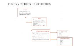 FUSION Y ESICION DE SOCIEDADES