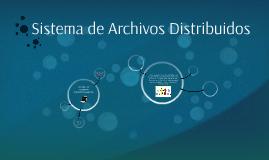 Sistema de Archivos Distribuidos