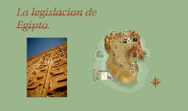Copy of La legislacion de Egipto.