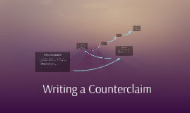 Writing a Counterclaim