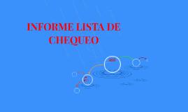 INFORME LISTA DE CHEQUEO AMERICAN CHILDREN