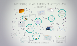 Copy of Developing Individual Behavior Change Plans
