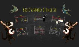 Basic Summary of English