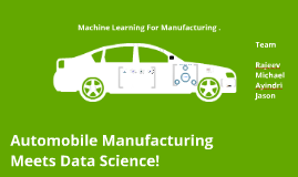 Data Science Project - Car Manufacturing