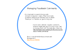Managing Facebook Comments