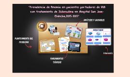 """Prevalencia de Anemia en pacientes portadores de VIH con tr"