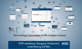 TOTh workshop. European Parliament. 3rd Dec.