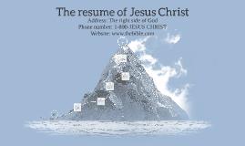 The resume of Jesus Christ by Kate Kobos on Prezi