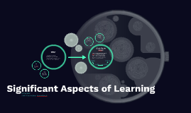 Significant Aspects of Learning