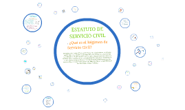 ESTATUTO DE SERVICIO CIVIL