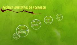 Copy of POLÍTICA AMBIENTAL DE POSTOBON