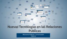Nuevas Tecnologías en las Relaciones Públicas