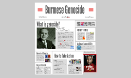 Burmese Genocide