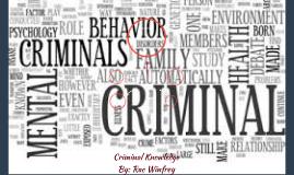 Criminal Knowledge