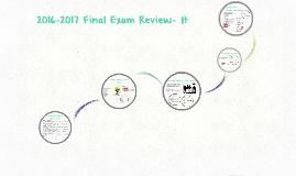 2016-2017 Final Exam Review- H