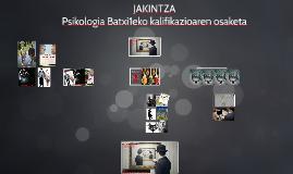JAKINTZA-Psikologiako kalifikazioaren osaketa
