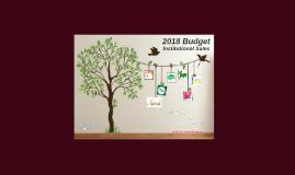 Insti Sales 2018 Budget