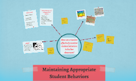 Maintaining Appropriate Student Behaviors