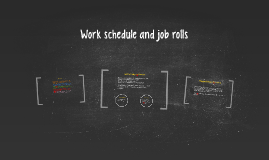 Work schedule and job rolls