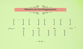 Historie van het Haagse groen