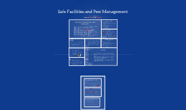 9. Safe Facilities and Pest Management