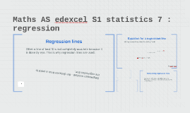 Maths AS edexcel S1 statistics 7 : regression