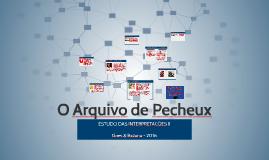 O Arquivo de Pecheux