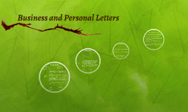 Business and Personal Letters