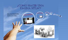 COMO HACER UNA PAGINA HTML