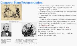 Congress Plan: Reconstruction