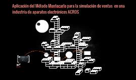 Aplicación del Método Montecarlo para la simulación de venta