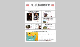 Copy of Paul's First Missionary Journey