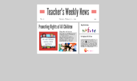 Teacher's Weekly News