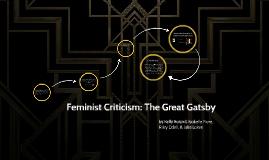 Feminist Criticism Great Gatsby