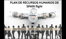 """PLAN DE RECURSOS HUMANOS """"SPAIN flight"""""""