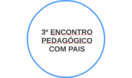 3º ENCONTRO PEDAGÓGICO COM PAIS