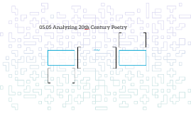 05.05 Analyzing 20th Century Poetry