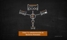 Tema: La administración de Recursos Humanos