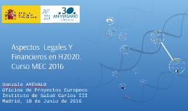 Aspectos Legales y Financieros de H2020