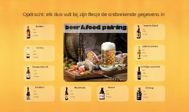 Beer & food pairing   samenwerkopdracht  opdracht