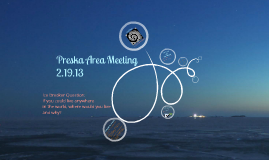 2.19 Area Meeting
