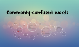 Commonly-confused words