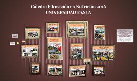 Cátedra Educación en Nutrición