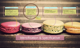 Identification & Specification